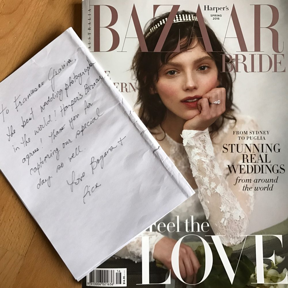 Publishing Bazaar Bride - Real Wedding
